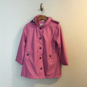 Hatley Girls Pink Rain Coat Jacket Hooded 6